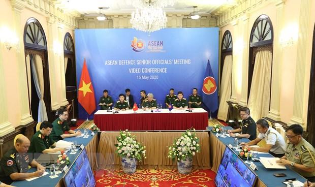 Hinh anh Hoi nghi truc tuyen Quan chuc Quoc phong cap cao ASEAN hinh anh 1