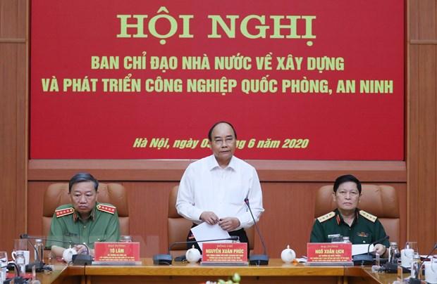 Thu tuong chu tri hoi nghi xay dung cong nghiep quoc phong, an ninh hinh anh 1