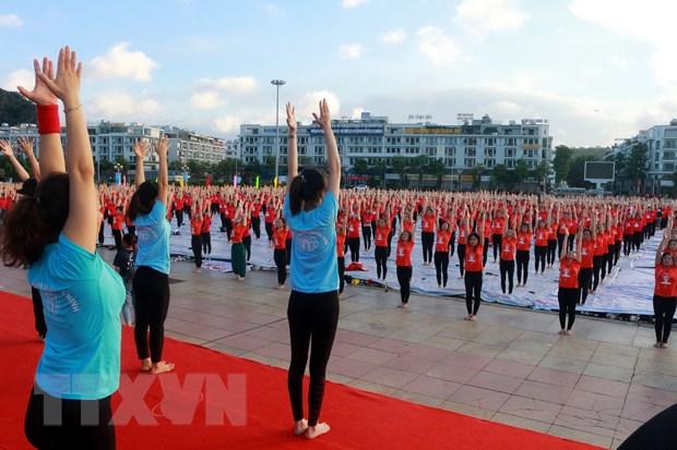 Ngay Quoc te Yoga lan thu 6 thu hut gan 3.000 nguoi tham gia hinh anh 1