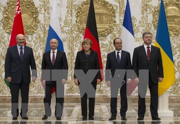 [Video] Tuyen bo chung Minsk ung ho giai quyet xung dot tai Ukraine hinh anh 1