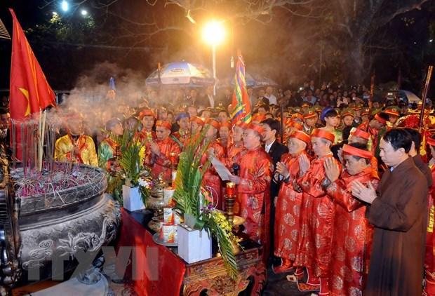 Nam Dinh: Le khai an Den Tran Xuan At Mui 2015 khai mac trong dem hinh anh 1