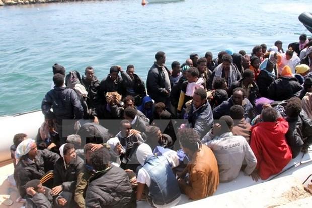 Italy: Khoang 2.700 nguoi di cu duoc cuu gan bo bien Libya hinh anh 1