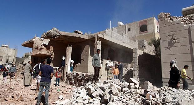Lien quan Saudi Arabia khong kich trung tru so canh sat o Yemen hinh anh 1