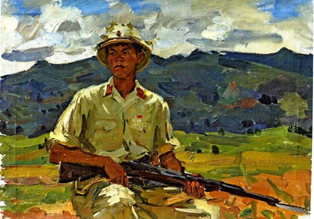 Trien lam tranh ve Viet Nam cua Hoa sy Cong huan Lien xo hinh anh 1