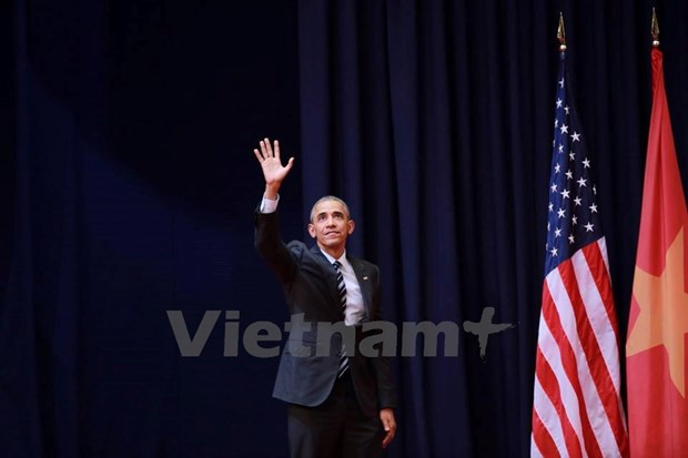 Tong thong Obama noi loi cuoi cung gi truoc khi roi Viet Nam? hinh anh 1