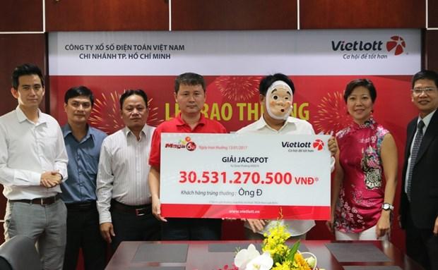 Nguoi choi o Thanh pho Ho Chi Minh duoc trao giai Jackpot 30 ty dong hinh anh 1