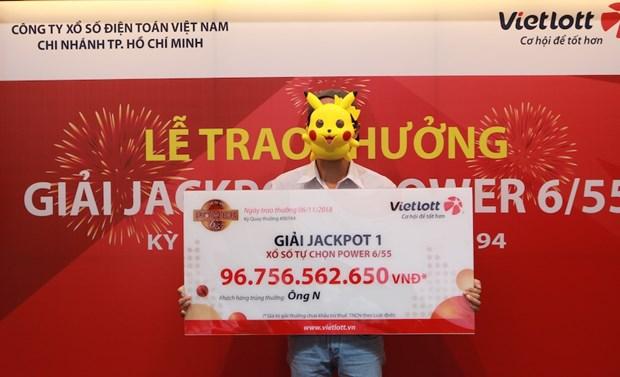 Trao giai Jackpot 97 ty dong cho khach hang o Thanh pho Ho Chi Minh hinh anh 1