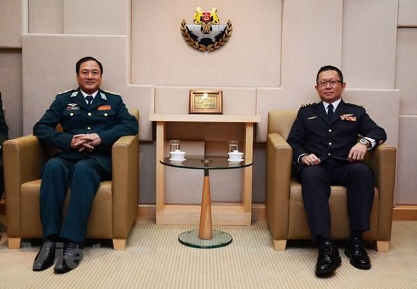 Tu lenh Phong khong-Khong quan Viet Nam lam viec tai Singapore hinh anh 2
