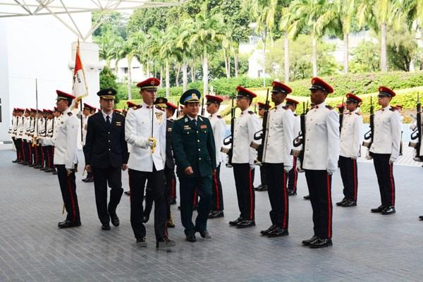 Tu lenh Phong khong-Khong quan Viet Nam lam viec tai Singapore hinh anh 1