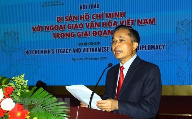 """Hoi thao quoc te """"Di san Ho Chi Minh voi ngoai giao van hoa Viet Nam"""" hinh anh 1"""