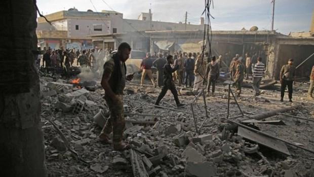 Syria: Danh bom xe tai mot khu cho khien 40 nguoi thuong vong hinh anh 1
