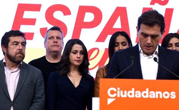 Tay Ban Nha: Thu linh dang Ciudadanos tuyen bo tu chuc hinh anh 1