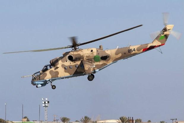 Libya: May bay truc thang bi ban ha, it nhat 9 nguoi thiet mang hinh anh 1