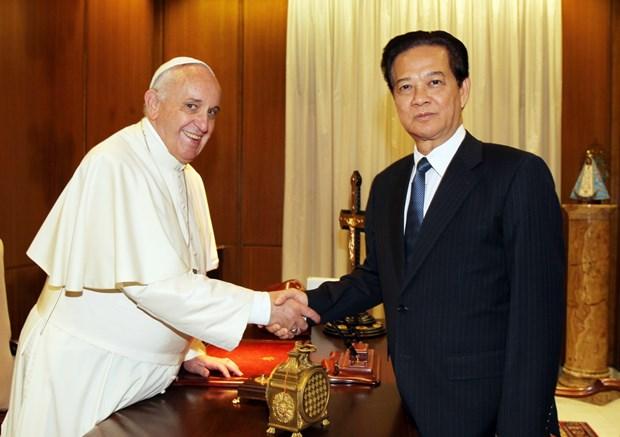 Thu tuong Nguyen Tan Dung hoi kien Giao hoang Francis hinh anh 1