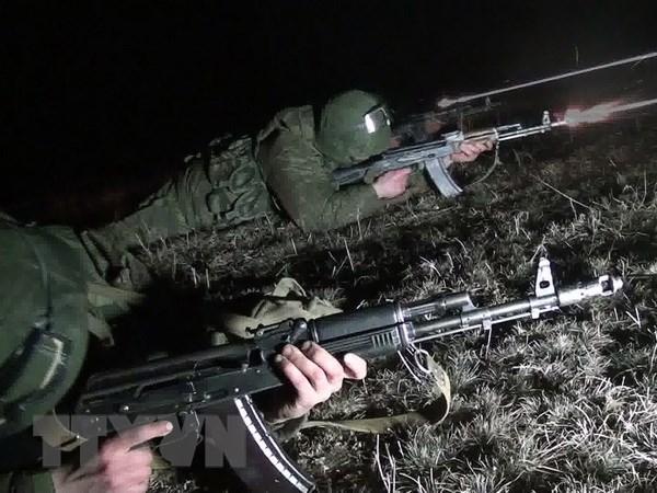 450 linh du Nga tham gia dien tap chong khung bo tai Tajikistan hinh anh 1