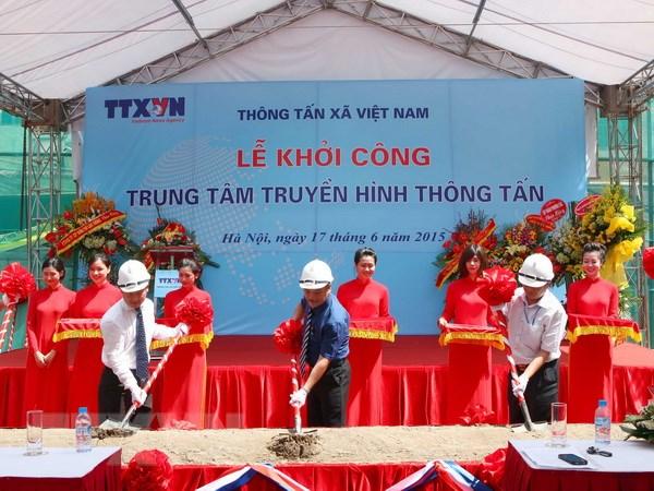 Khoi cong xay dung Trung tam Truyen hinh Thong tan tai Ha Noi hinh anh 1