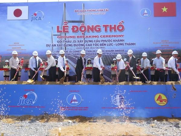 Dong tho xay cau day vang Phuoc Khanh qua song Long Tau hinh anh 1