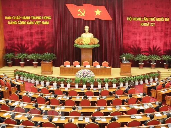 Be mac Hoi nghi lan thu 13 Ban Chap hanh Trung uong Dang khoa XI hinh anh 1
