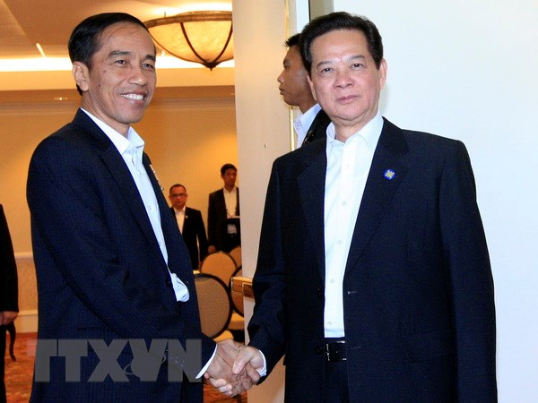 Thu tuong Nguyen Tan Dung gap Tong thong Cong hoa Indonesia hinh anh 1