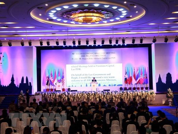 Khai mac Hoi nghi Bo truong Kinh te ASEAN lan thu 48 tai Lao hinh anh 1
