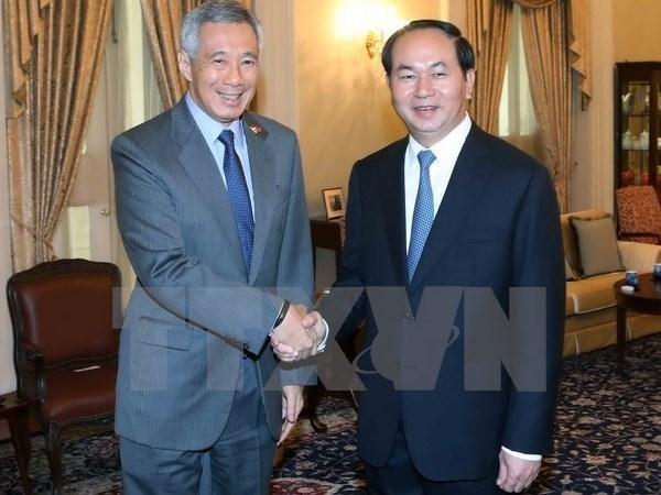 Tuyen bo bao chi Viet Nam-Singapore ve chuyen tham cua Chu tich nuoc hinh anh 1
