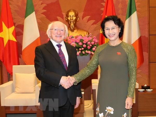 Chu tich Quoc hoi Nguyen Thi Kim Ngan tiep Tong thong Ireland hinh anh 1