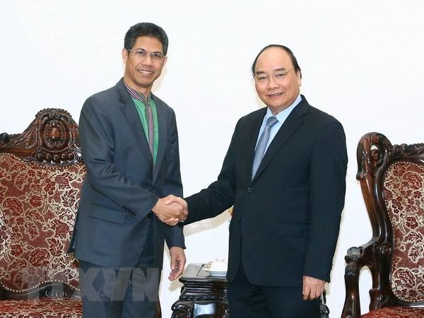 Thu tuong tiep Dai su Cong hoa Ireland va Dai su Timor Leste hinh anh 2