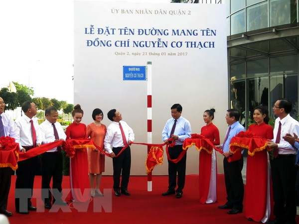 Le dat ten duong Nguyen Co Thach tai Thanh pho Ho Chi Minh hinh anh 1