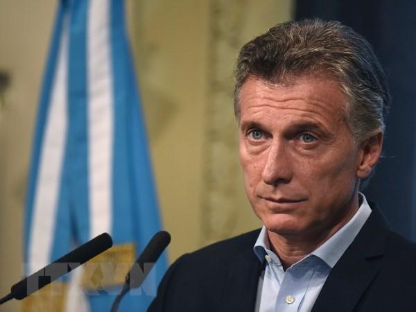 Tong thong Donald Trump moi Tong thong Argentina tham My hinh anh 1