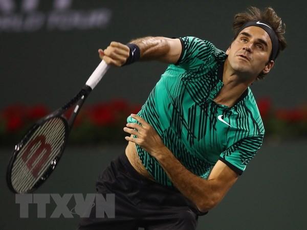 Khong do mot giot mo hoi nao, Foger Federer van vao ban ket hinh anh 1