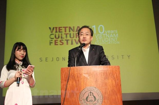 """""""Dem van hoa Viet Nam"""" cua sinh vien Dai hoc Sejong Han Quoc hinh anh 2"""