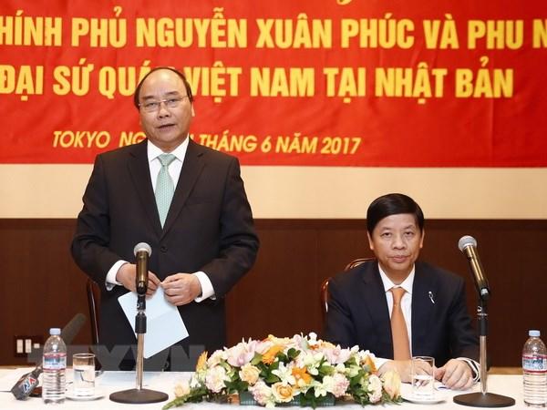 Thu tuong tham Dai su quan va cong dong nguoi Viet tai Nhat Ban hinh anh 1
