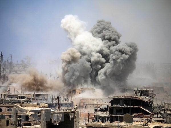 Lien quan khong kich lam 42 nguoi thiet mang tai Syria hinh anh 1