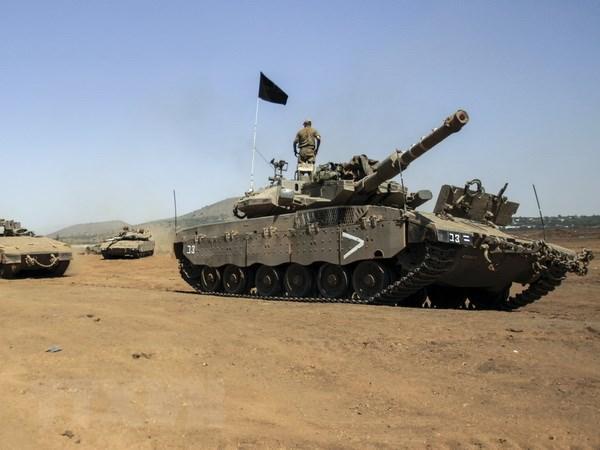 Israel cao buoc Hezbollah na rocket vao Cao nguyen Golan hinh anh 1