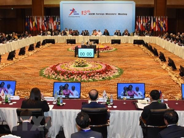 Khai mac Hoi nghi Bo truong Ngoai giao ASEM lan thu 13 tai Myanmar hinh anh 1