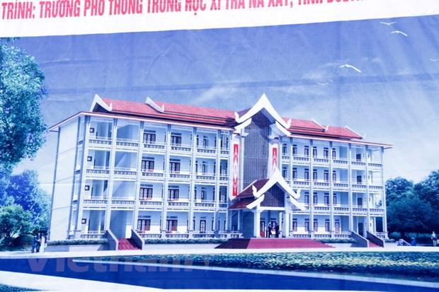 Khoi cong truong hoc o Lao - qua tang cua Tong Bi thu Nguyen Phu Trong hinh anh 2