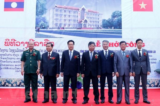 Khoi cong truong hoc o Lao - qua tang cua Tong Bi thu Nguyen Phu Trong hinh anh 3