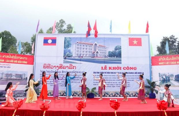 Khoi cong truong hoc o Lao - qua tang cua Tong Bi thu Nguyen Phu Trong hinh anh 4