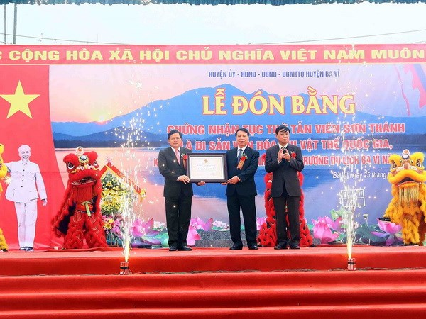 Khai hoi Tan Vien Son Thanh dien ra trong 3 ngay tai Ba Vi hinh anh 1