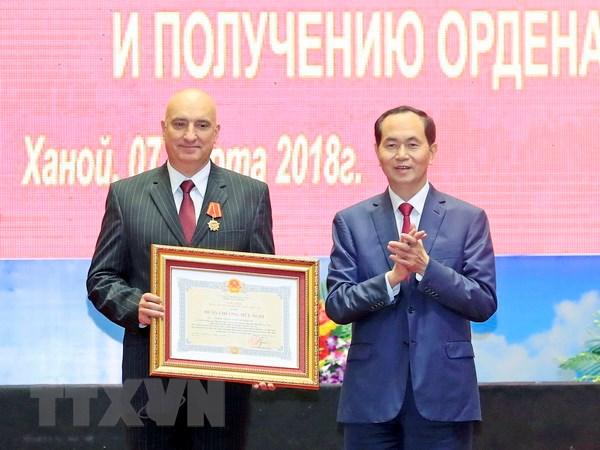 Chu tich nuoc du ky niem Ngay thanh lap Trung tam Nhiet doi Viet-Nga hinh anh 1