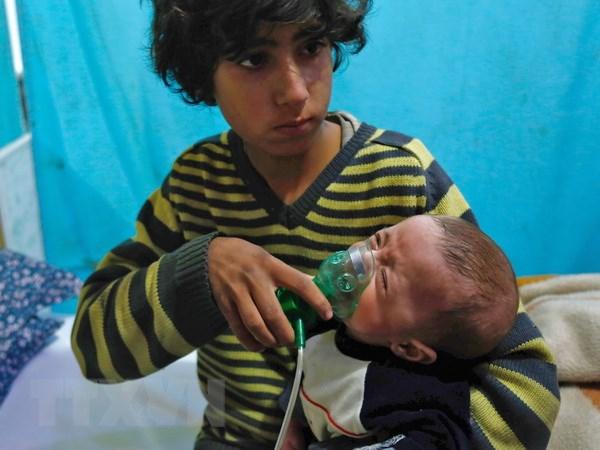 Syria: Chuyen gia cua to chuc OPCW da den thi tran Douma hinh anh 1