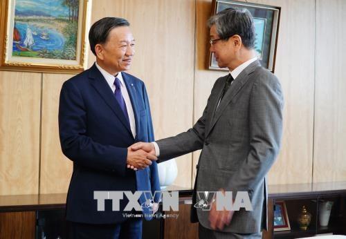 Bo truong Bo Cong an To Lam tham va lam viec tai Nhat Ban hinh anh 1