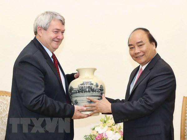 Thu tuong Nguyen Xuan Phuc tiep Pho Chu tich Ha vien Cong hoa Sec hinh anh 1