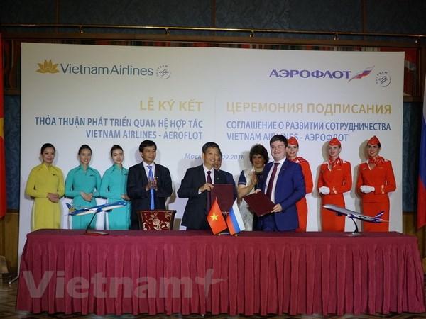 Vietnam Airlines ky niem 25 nam duong bay Viet Nam-Lien bang Nga hinh anh 1