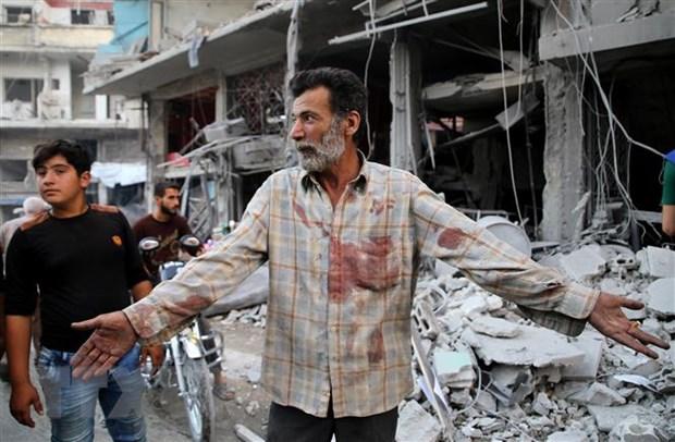 Nga: Phien quan bat coc tre em de dan dung vu tan cong hoa hoc o Idlib hinh anh 1