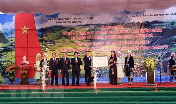 Khu bao ton Na Hang-Lam Binh nhan bang danh thang canh Quoc gia hinh anh 1