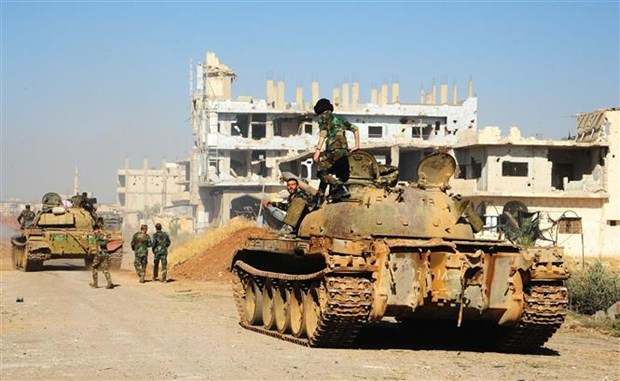 Quan noi day tai Syria khong rut khoi vung phi quan su quanh Idlib hinh anh 1