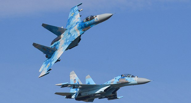 Ukraine: Roi may bay quan su Su-27 khi dang huan luyen hinh anh 1