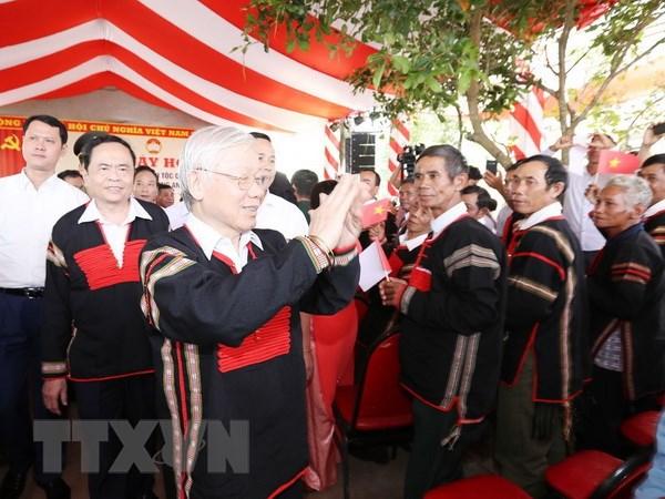 Tong Bi thu, Chu tich nuoc du Ngay hoi Dai doan ket tai Dak Lak hinh anh 1