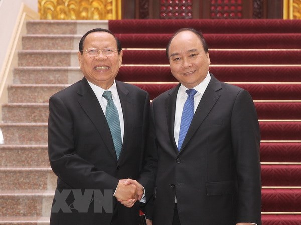 Thu tuong Nguyen Xuan Phuc tiep Bo truong Bo Ke hoach Campuchia hinh anh 1